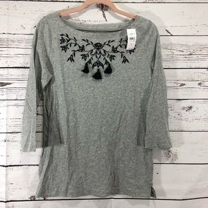 Loft Top with Tassels & Embroidered Design